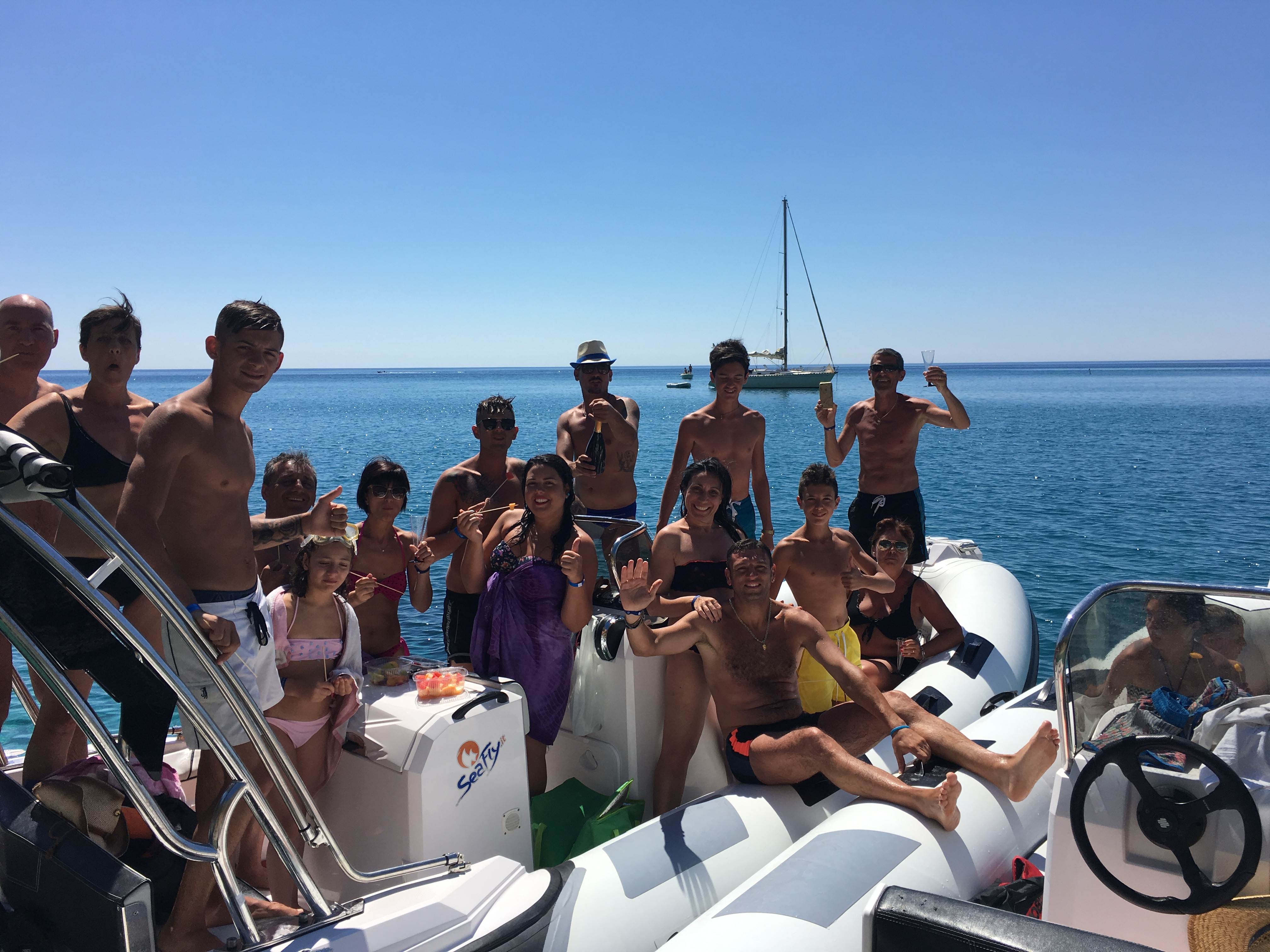Excursion of the Ionian coast by rubber boat
